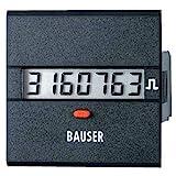 bauser 3811.3.1.1.0.2Contador de tiempo o de impulsos digitale- novedad. Solución Twin Dim. instalación 45x 45mm
