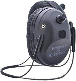 Pro Ears - Pro Tac Plus Gold - Military Grade Electronic Hearing Protection and Amplification - NRR 26 - Behind the Head Headband - Ear Muffs