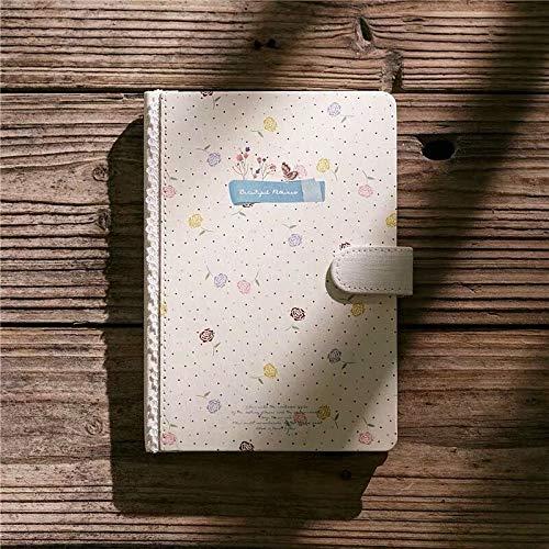 Weichuang - Cuaderno de 128 hojas, tamaño A5, diseño de flores, estilo vintage, diario, mensual, semanal, diario, cuaderno de trabajo, bloc de notas (color: Wblue, tamaño: 18,6 cm x 12,8 cm)