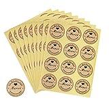360pcs Autocollant Merci Rond Etiquette Sticker Gommette Meici Fait Main pour Cadeaux Enveloppes Créations Mariage 30 Feuilles