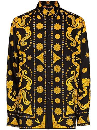 Versace Luxury Fashion Herren A84050A232646A7008 Schwarz Seide Hemd | Frühling Sommer 20
