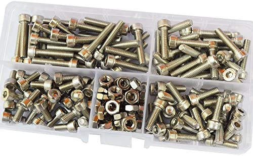 CHAMPION KIT METRIC BOLTS /& NUTS ALL 304 STAINLESS STEEL 140 Pieces