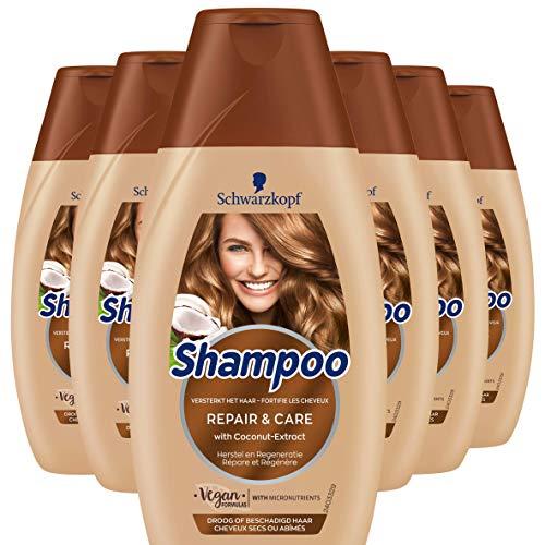 Schwarzkopf Repair en Care Shampoo 250ml , 6 stuks