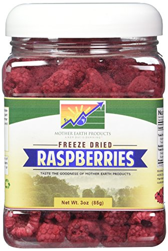Mother Earth Products Freeze Dried Raspberries, 3 oz