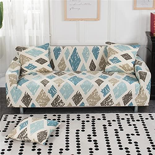 Funda de sofá de Spandex Funda de sofá elástica Moderna Adecuada para Sala de Estar Funda de sofá Todo Incluido con Envoltura hermética Muebles A18 4 plazas