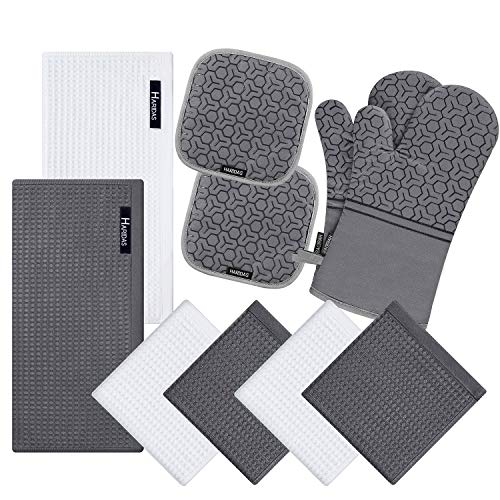 Top 10 Best Selling List for kitchen towels and oven mitt sets