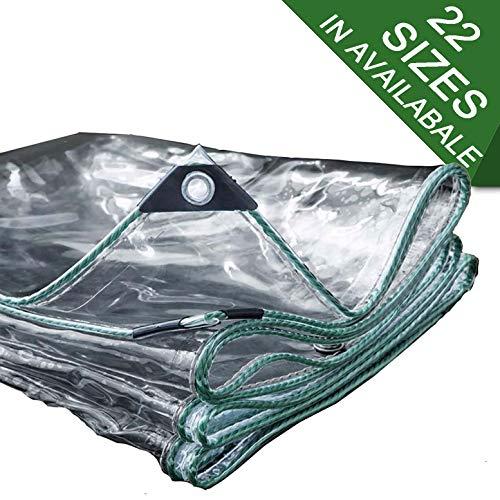 NaDrn Lona de Protección, Lonas Impermeables Exterior, PVC Plastico Lonas para Piscinas Exterior/Techado/Construcción, Resistente al Agua y a los Rayos UV, 500g/㎡ Espesor 0.5mm,1.8mX4m/13.1x6ft