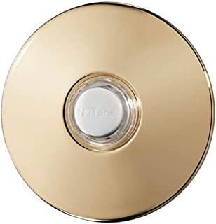Broan-NuTone PB41BGL Door Chime Push Button, Polished Brass