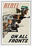 Poster Rebel On All Fronts Alliance Propaganda aus weißem
