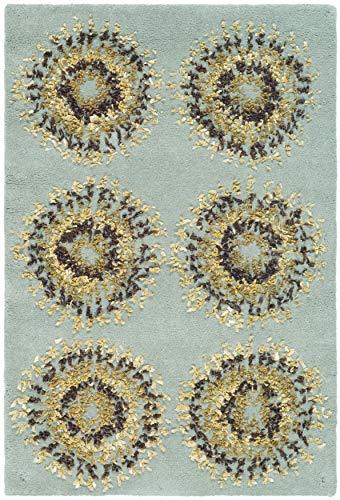 Safavieh Soho Collection SOH719C - Alfombra de Lana (Hecha a Mano, 2 x 3 m), Color Azul Claro y Multi