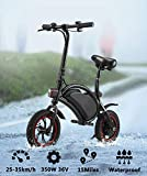Folding Electric Bicycle, 350W 36V Lightweight E-Bike Mini Electric Bike with 15 Mile Range, Collapsible Frame, and APP Speed Setting...
