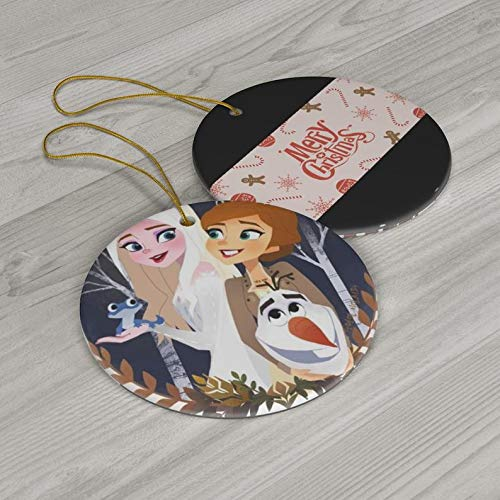 New Disney Frozen Elsa Ana Princess Olaf Merry Christmas Ceramic Ornaments Just Started