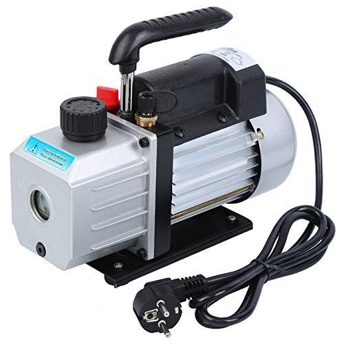 MuGuang Pompe à Vide 3.5 CFM 1/3HP 5 Pa 220V / 50HZ palettes Pompe à Vide CVC Outil Air AC1440r/min réfrigérant Vacuum Pump(sans Huile)