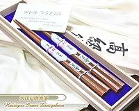 大江戸唐木箸 蝋磨き 八角南天桐 【◆桐箱入 夫婦箸ギフト】