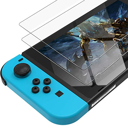Tempered Glass PRO Screen Protector for Nintendo Switch [2-Pack] 9H Hardness, Scratch Resistance, Bubble Free, High Transparency Premium Tempered Glass Screen Protector for Nintendo Switch