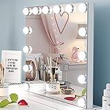 Ovonni Espejo Maquillaje con Luz, 14 Bombillas LED, Multiuso Espejo HD...