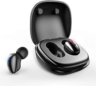 ALWUP Auriculares Bluetooth, Auriculares Inalambricos Deportivos Audifonos In-Ear Bluetooth 5.0 Cascos con Micrófono Sonido Estéreo con Caja de Carga Portátil