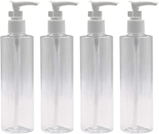 Homiest 250ml/8.5oz Foaming Soap Dispensers Oval with White Pumps Empty Plastic Liquid Soap Pump Bottles for DIY Liquid Soap, Dish Soap, Body Wash and More