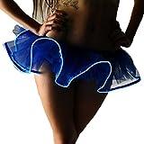 Falda de Tutu Mujer,SHOBDW Moda Vestidos De Baile Vestidos Disfraces Regalos De Cumpleaños Club Nocturno Fiesta De Noche Mini Falda De Burbuja Sin Batería Gasa Falda Esponjosa(Azul,XL)