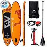 "FUSION Stand Up Paddle Board 10.4"" Orange aufblasbar iSUP im Set, 315 x 76 x 15 cm"