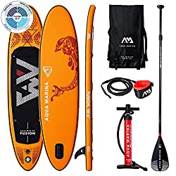 aqua marina stand up paddle gonflable pack kit modèle aileron