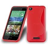 Cadorabo Hülle für HTC Desire 320 in Inferno ROT –