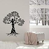 WERWN Calcomanía Creativa de Pared para Mujer Natural, árbol, Salud ecológica, Ventana, Vinilo, Pegatina, salón de Belleza, meditación, decoración de Interiores