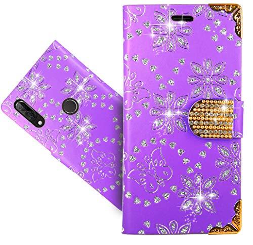 Wiko View 2 Plus Handy Tasche, FoneExpert® Wallet Hülle Cover Bling Diamond Hüllen Etui Hülle Ledertasche Lederhülle Schutzhülle Für Wiko View 2 Plus