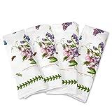 Portmeirion Home & Gifts Juego de 4 servilletas de algodón, multicolor, 45 x 45 x 1 cm