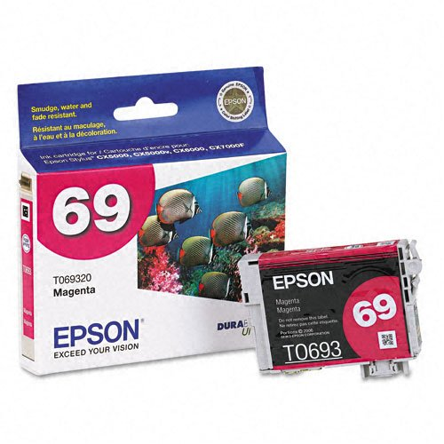 Epson Products - Epson - T069320 Ink, 340 Page-Yield, Magenta - Sold As 1 Each - DURABriteTM ink is smudge-, water- and fade-resistant. - Individual cartridges. - Quick-drying formula. - Ink won't bleed through paper. -