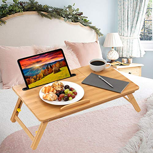 Natural Bamboo Foldable Laptop Desk