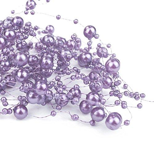 goodymax 6,5 m Perlengirlanden Flieder - Perlengirlande Dekoschnur Perlen