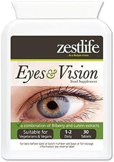 Zestlife Ojos y Visión Suplemento 30 comprimidos | Una combinación