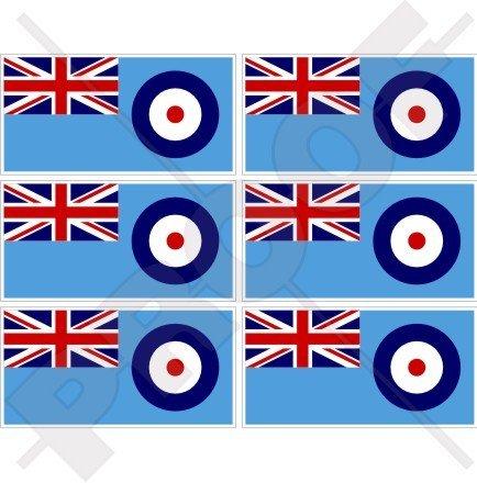 RAF Ensign Drapeau British Royal Airforce UK 40 mm (40,6 cm) Téléphone Mobile Mini en vinyle autocollants, Stickers x6