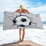 Toalla de Playa de Microfibra 3D Fútbol Crackle Juego de fútbol Power Toalla de baño Accesorios de baño para Acampar Toalla de Playa de Microfibra Toallas de baño para Adultos