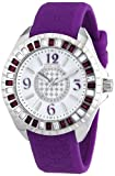 Police Women's PL-13090JS/28D Jade Crystal Bezel Black Rubber Watch