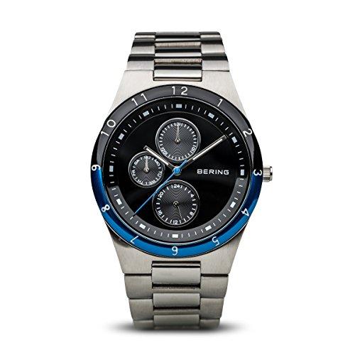 BERING Reloj Analógico Classic Collection para Hombre de Cuarzo con Correa en Acero Inoxidable y Cristal de Zafiro 32339-702