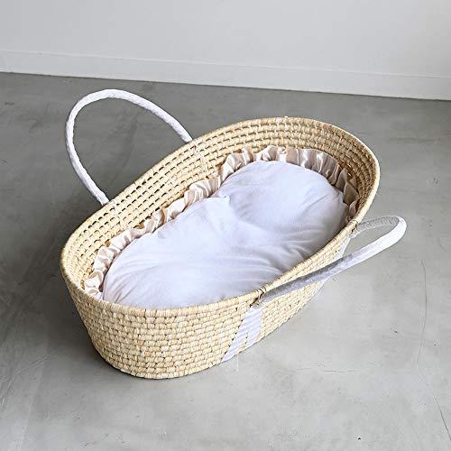 PUPPAPUPO クーファン+抱っこ布団 【フリル 】 パイル 敷きふとん付き クーファン ベージュ
