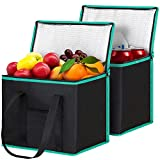 WiseLife Insulated Reusable Shopping Bags Grocery Bags [2 Pack] with Handles,Heavy Duty Produce Bags...