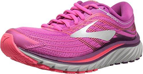 Brooks Womens Glycerin 15 Neutral Max Cushion Running Shoe (Pink/Purple/Silver, 7.5)
