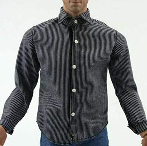Vêtements Modèle 1/6 Hommes Vêtements Accessoire Beau Classique Rayure Chemise Costume Tops pour 12'' Action Figure Corps
