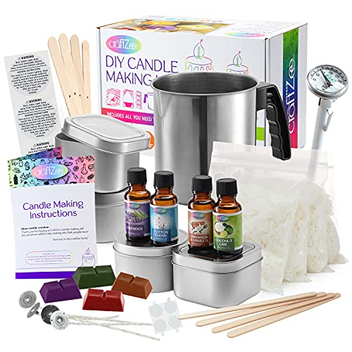 Candle Making Kit Crafts For Adults - Candle Making Supplies Soy Wax for Candle Making - Wax Melter for Candle Making - Soy Candle Making Kit - DIY Candle Making Kit - Candle Making Kit for Kids