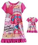 DreamWorks Trolls Poppy Girls Having a Rainbow Moment Nightgown and Doll Set, Size 8