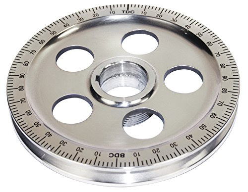 EMPI 00-9114-0 Polished Stock Size Aluminum Pulley w/Holes, Black Numbers