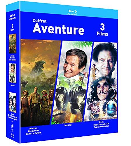 COFFRET AVENTURE Blu-ray Jumanji + Jumanji : Bienvenue dans la jungle + Hook