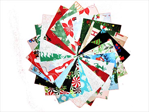 80 5' Beautiful Christmas Medley # 2 Charm Pack Different Prints of Each -