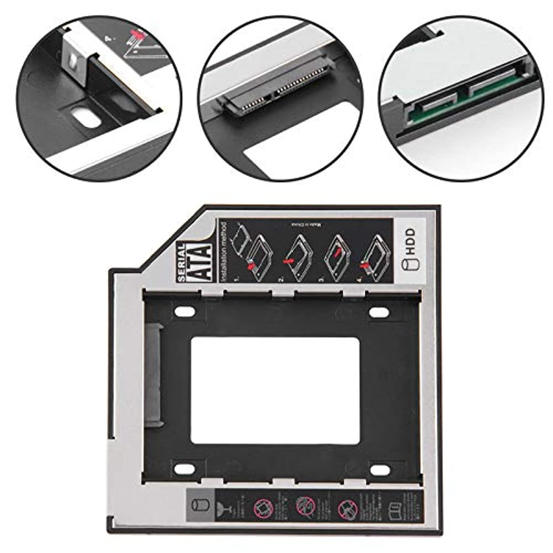 協力靄導入するAoile 9.5/12.7mm SATA セカンドHDD SSD ハードドライブキャディアダプター DVD-ROM CD-ROM HDD SATA 3 SDD ハードディスクブラケット用, PEL_03BDVPE1