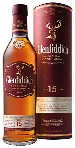 3x Glenfiddich - Solera Reserve Scotch Whisky 15 Years, Schottland - 700ml