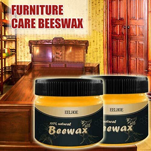 Moent Outils et amélioration de l'habitat Assaisonnement du Bois Solution complète de Cire d'abeille Entretien des Meubles Cire d'abeille Nettoyage Domestique Nettoyage Domestique