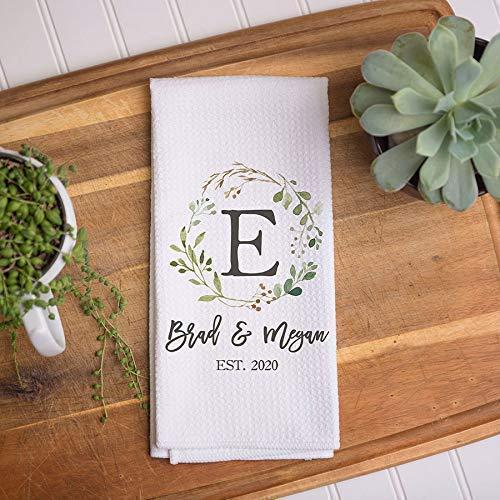 Custom Waffle Weave Dish Towel | Personalized Kitchen Towel | Housewarming Gift | Wedding Gift | Personalized Dish Towel | Housewarming Gift